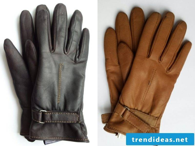 The black gloves can be custom leather dyeing