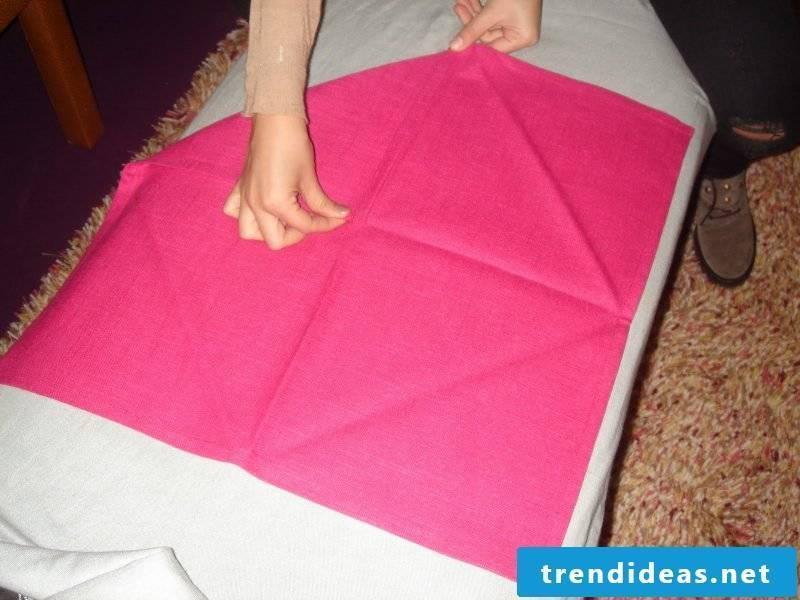 Star napkins fold step 1