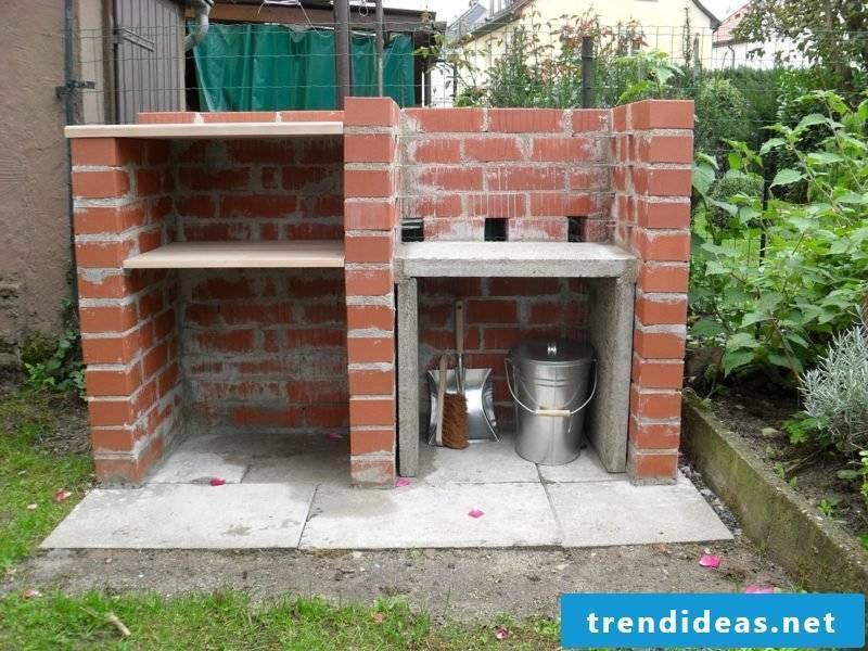 brick barbecue made of bricks