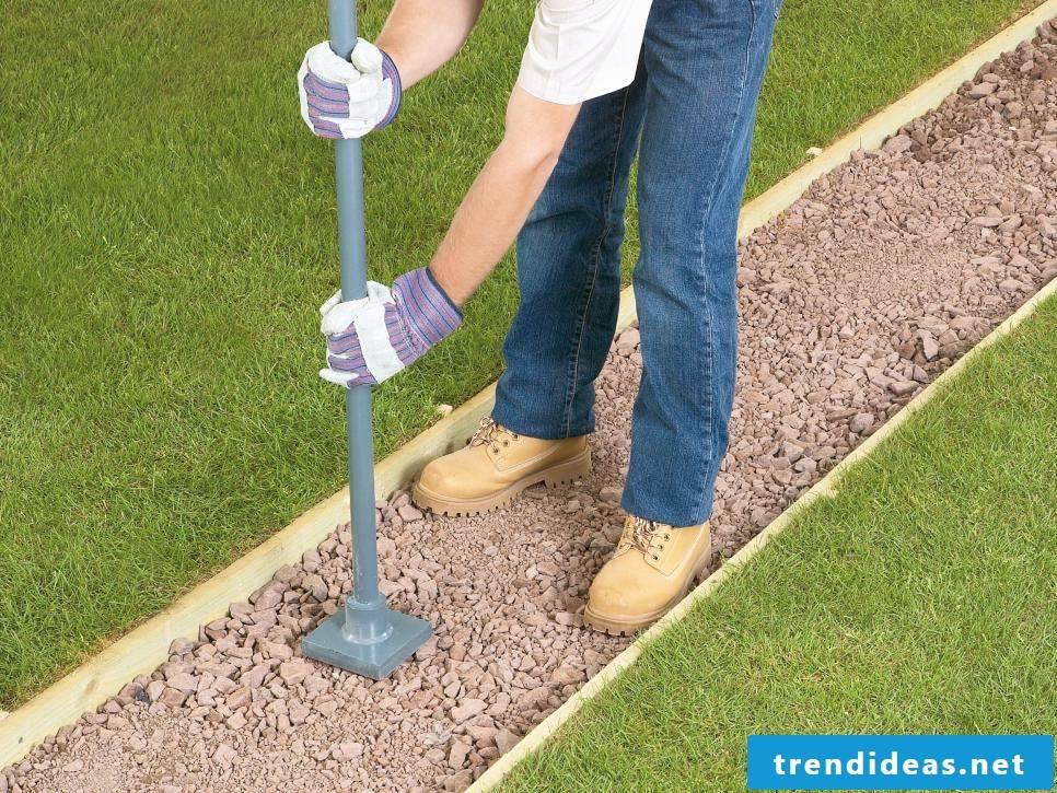 Create a gravel garden