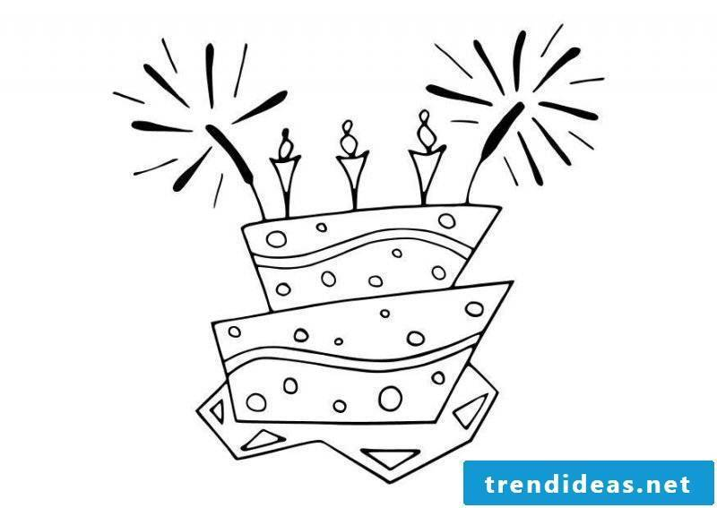Birthday cakes Pictures for coloring