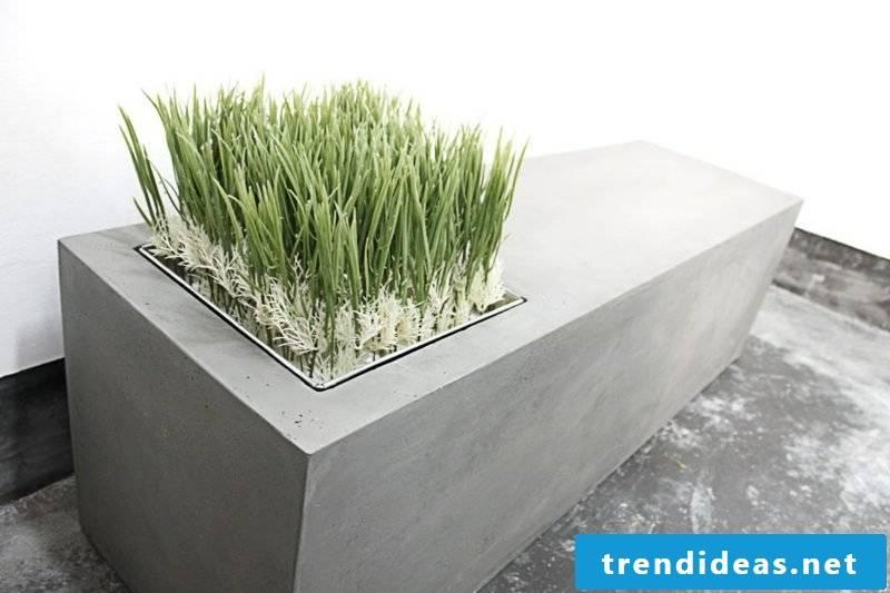 Concrete planter bench lyon