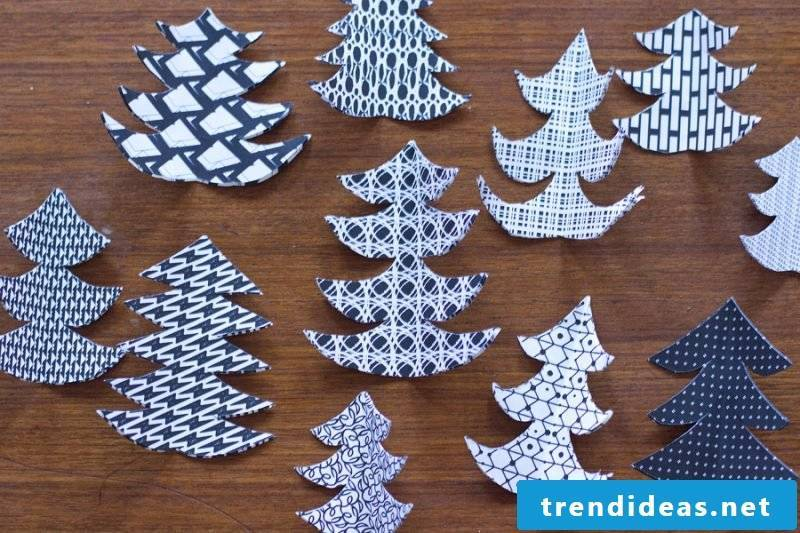 Christmas motives for printing Christmas decoration instructions