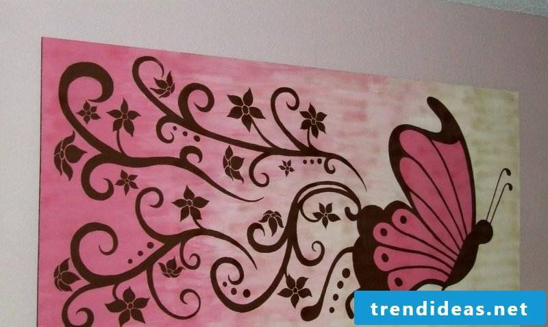 romantic picture with butterfly canvas
