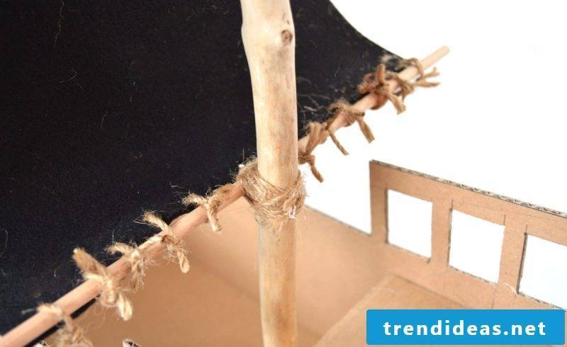 Crafting ideas for children: pirate ship