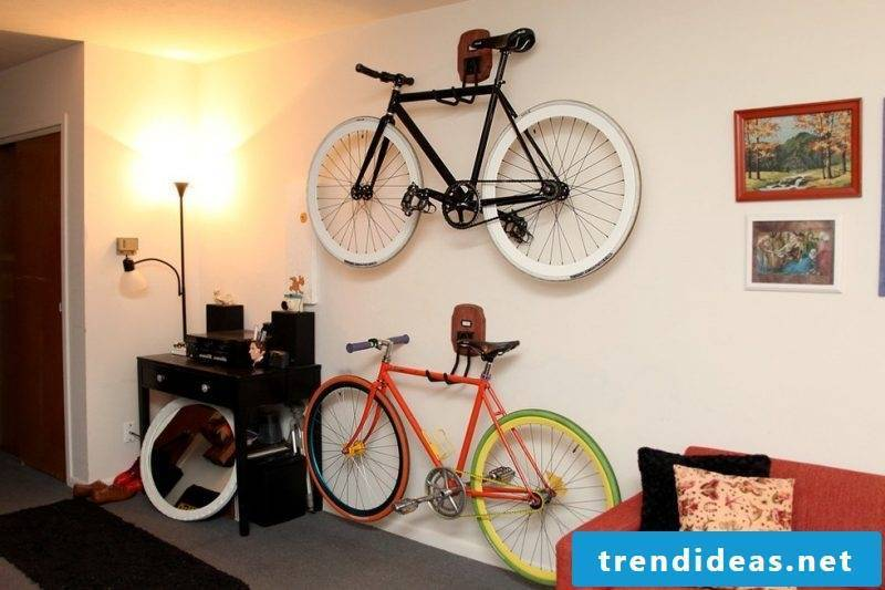 Bicycle mount for wall DIY idea