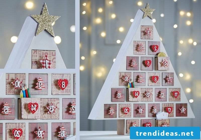 Christmas motives for printing DIY advent calendar