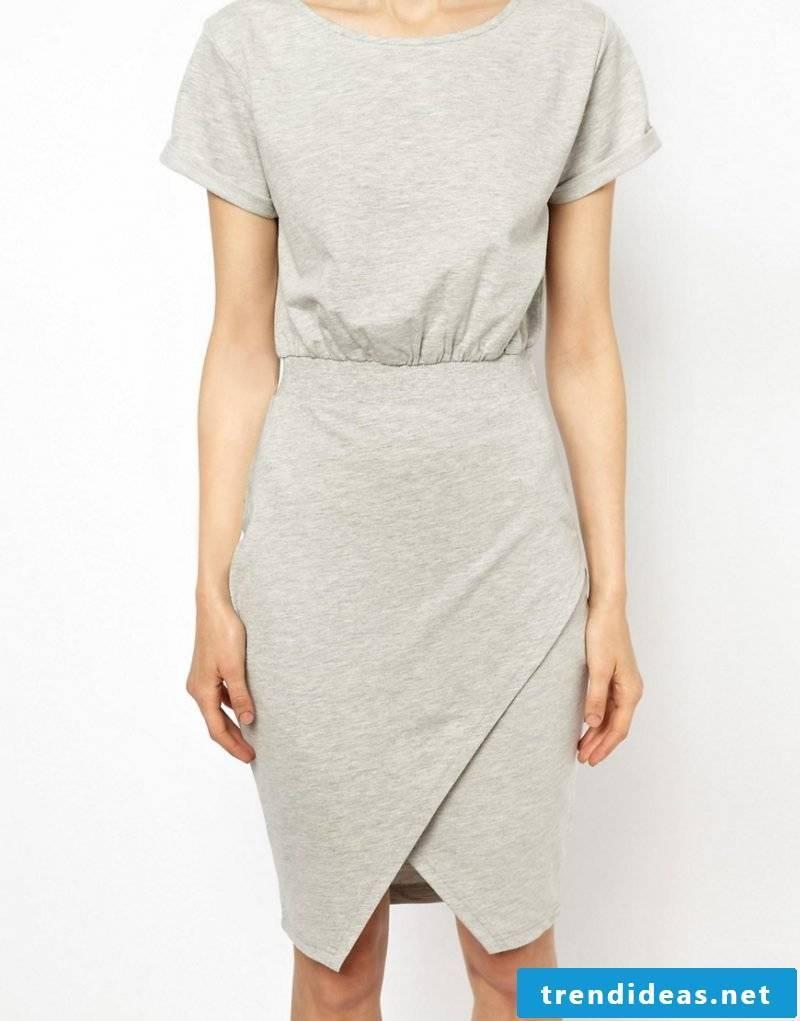 interesting gray wrap skirt