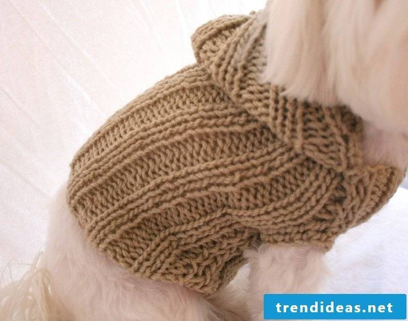 Dog sweaters knit with a light pattern