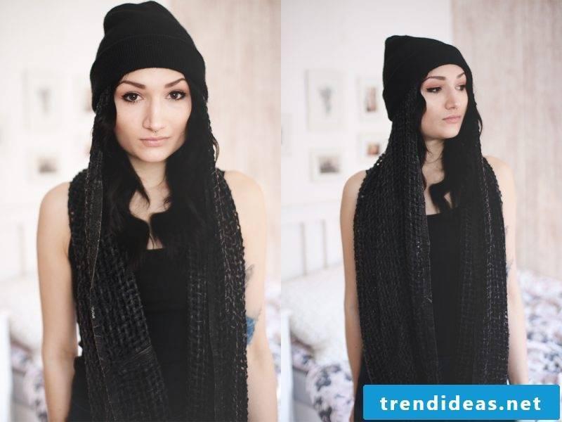 Loop scarf bind long