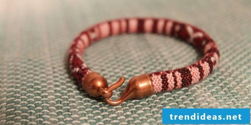 DIY bracelet crafting