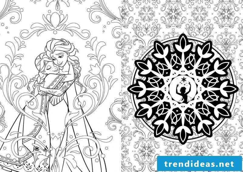 Free coloring pictures - Frozen is not just a favorite of children