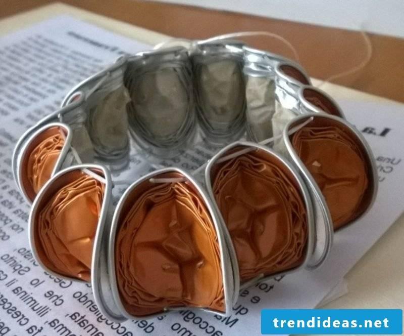 Nespresso capsules bracelet