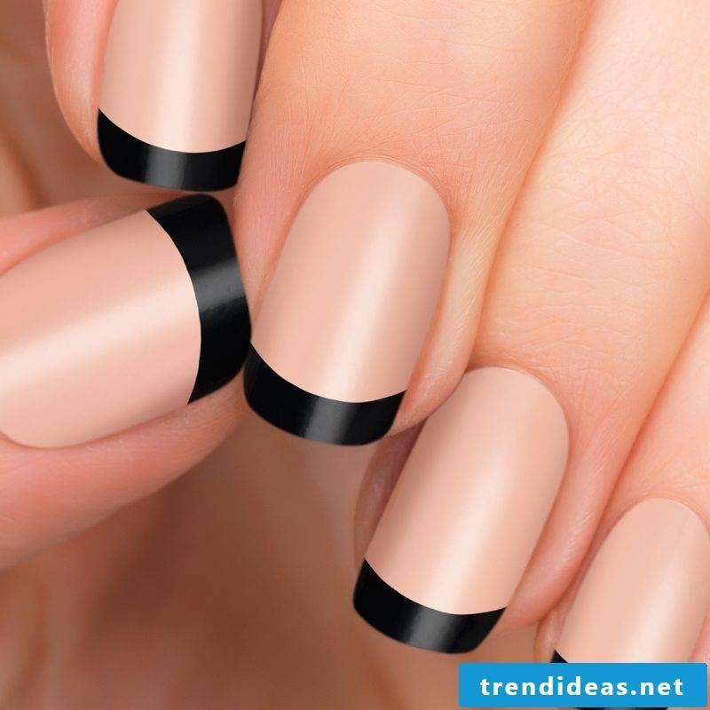 Nail art French black matte
