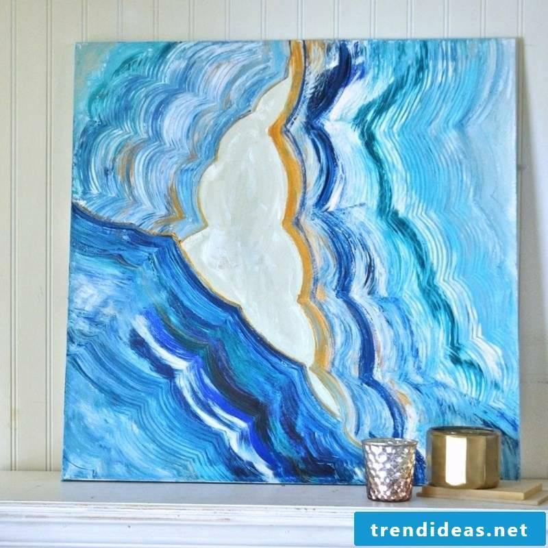 Canvas paint original picture