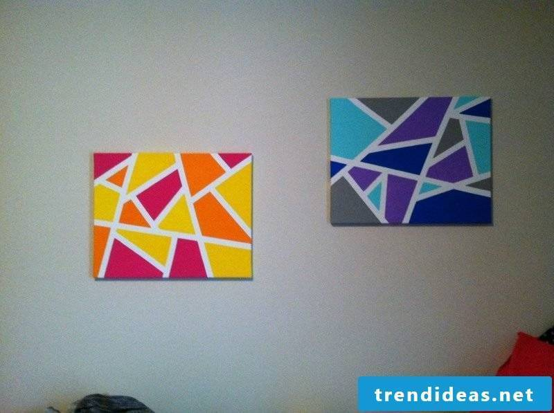 Canvas for painting geometric shapes