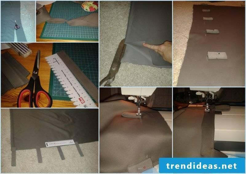 Curtain sew DIY steps
