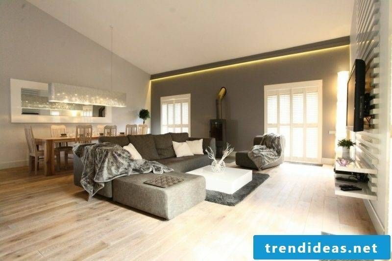 Lighting indirectly living room