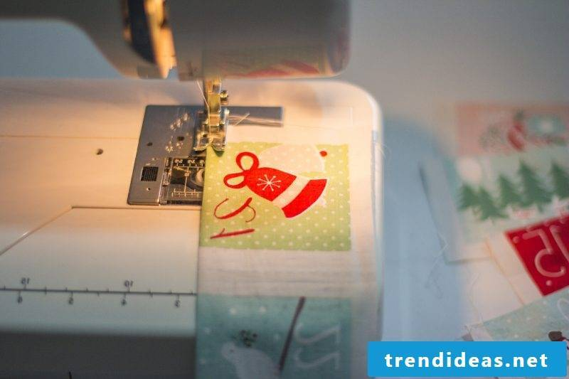 Advent calendar sewing with sewing machine