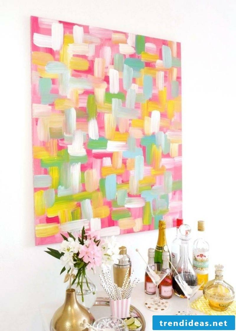 Canvas for painting gentle pastel nuances