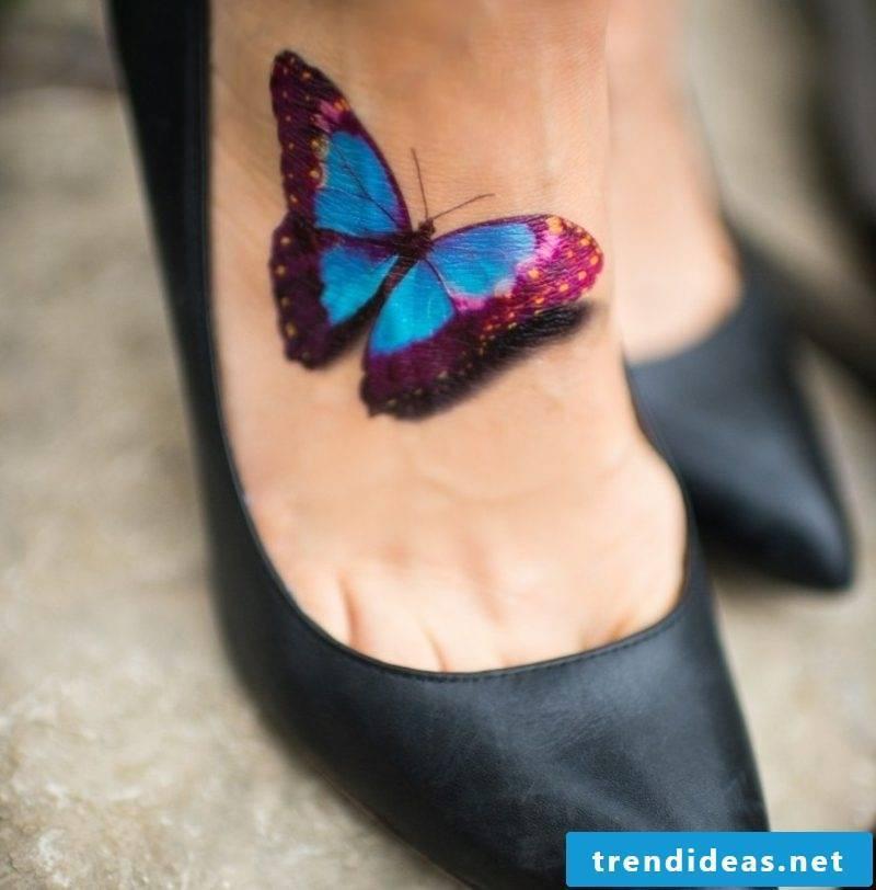 original blue butterfly tattoos