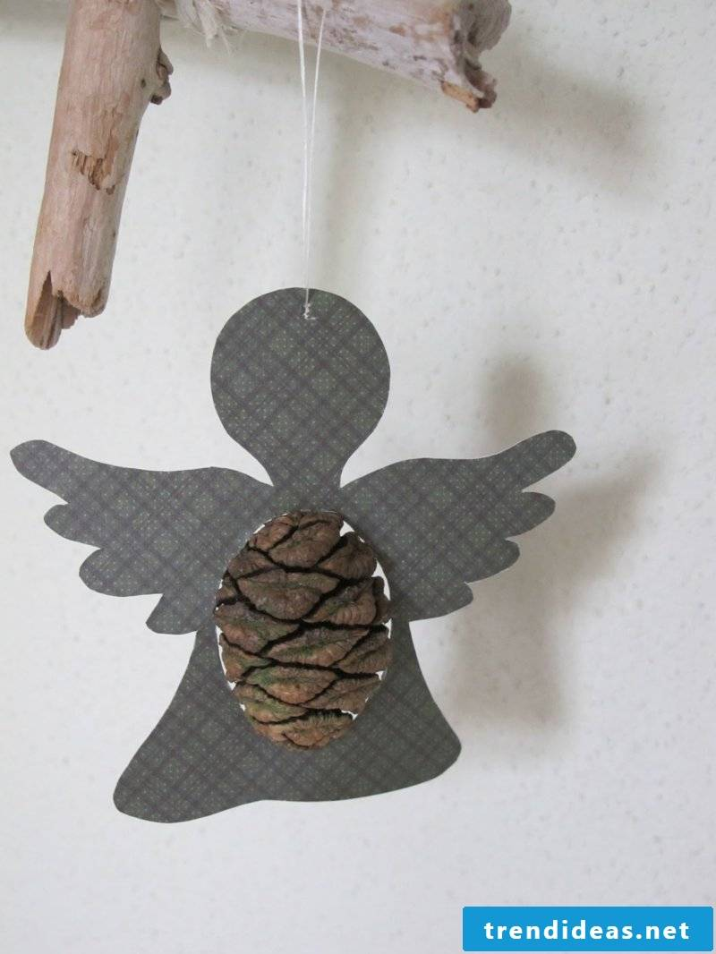 Tinker with pinecone angel