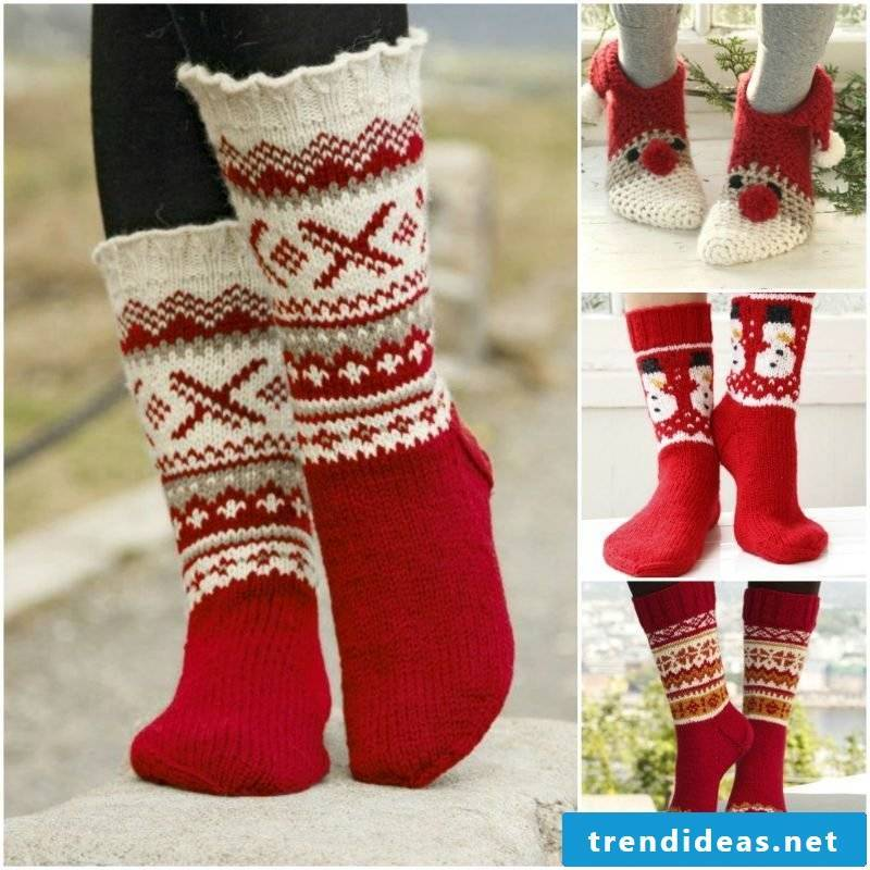 Knitting pattern for socks for Christmas