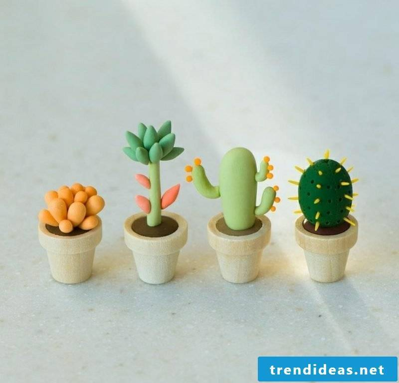 Craft polymer clay figures yourself
