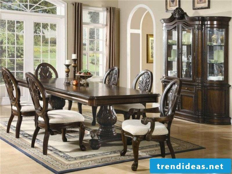 elegance and designer dream carpet in the dining room