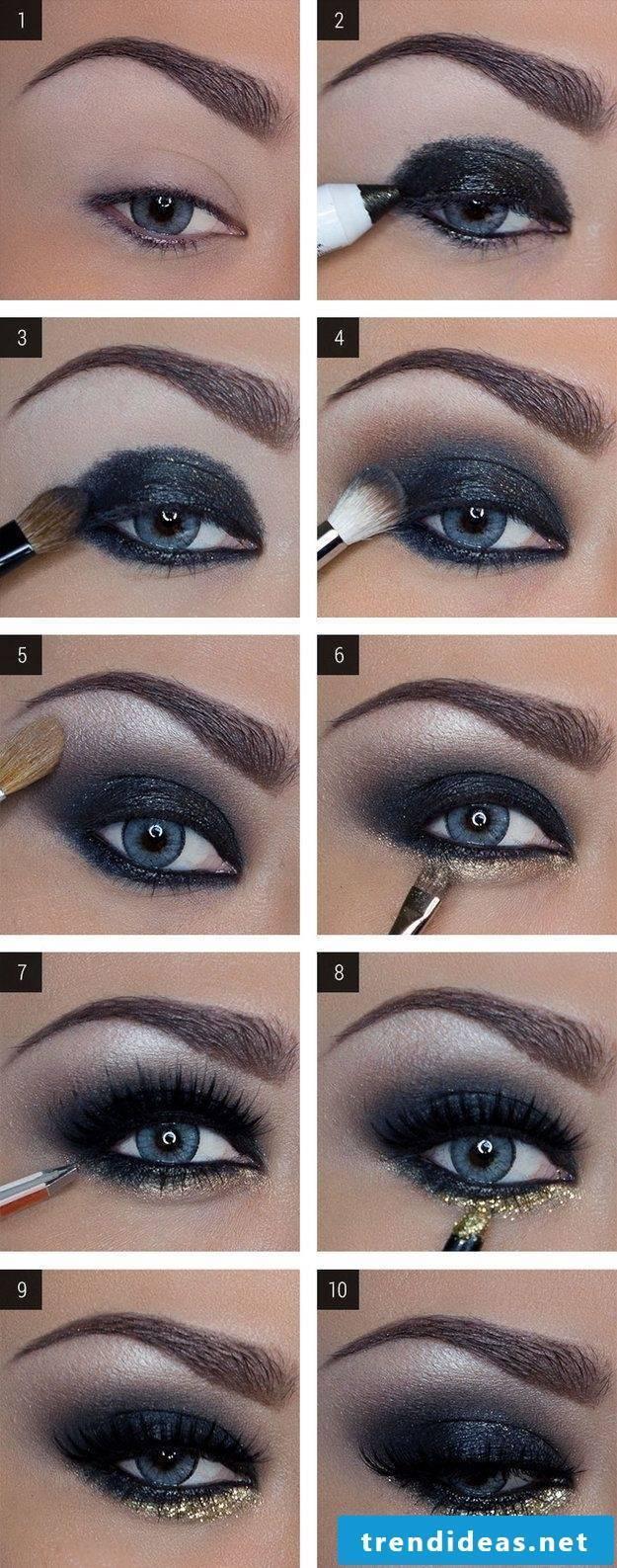 An eye makeup instruction