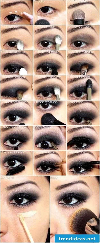An eye make up guide