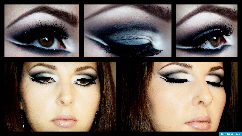 Brown eyes make-up