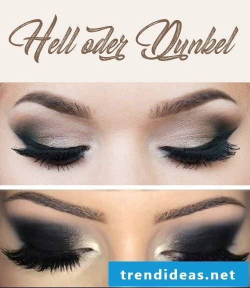 Dark or light nuances when smokey eyes make-up?