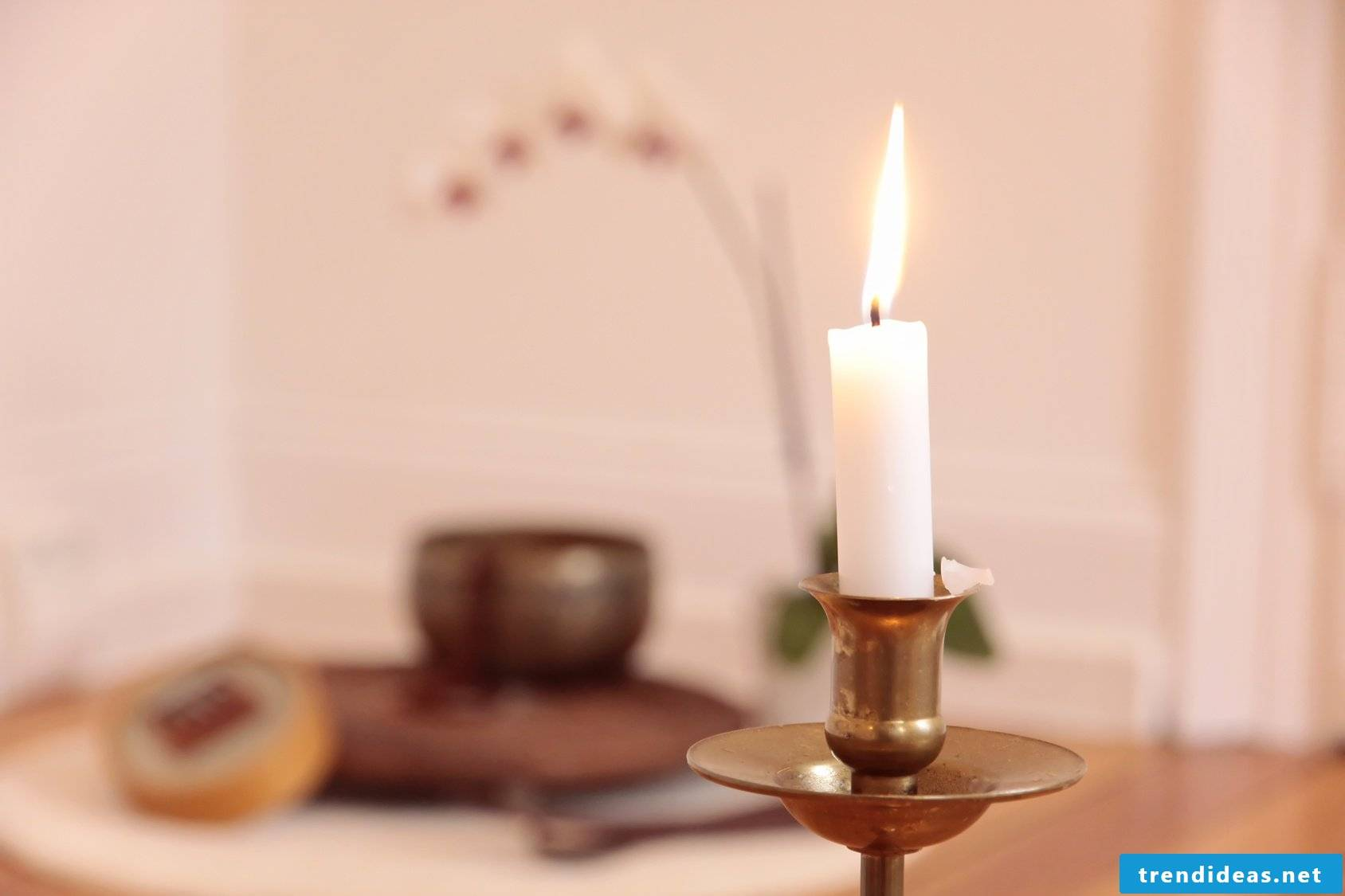 Orchid, candle and decoration