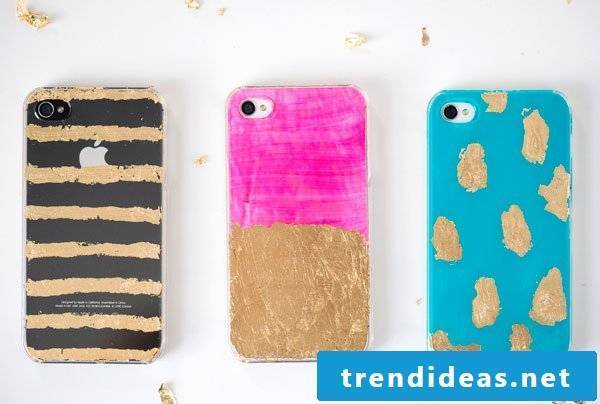Case Iphone 7 with gold foil