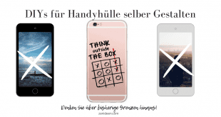 A trendy look and high protection for the mobile phone: 10 DIYs for mobile phone case design yourself