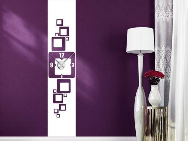 Purple wall clock for your Wohnwimmer