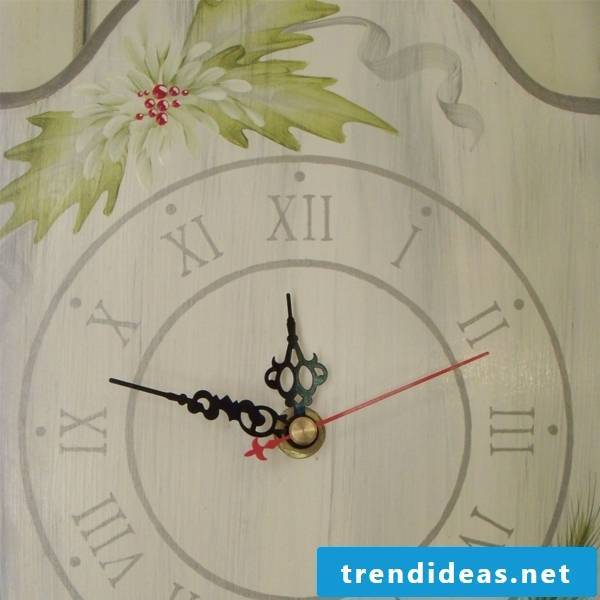 Painted wooden wall clock