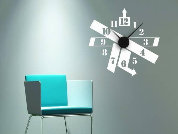White wall clock in the interior design