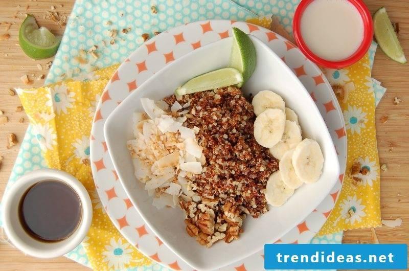 Quinoa Breakfast Lime Banana