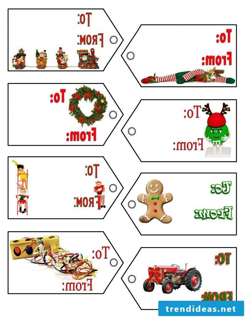 Christmas motives for printing gift wrapping