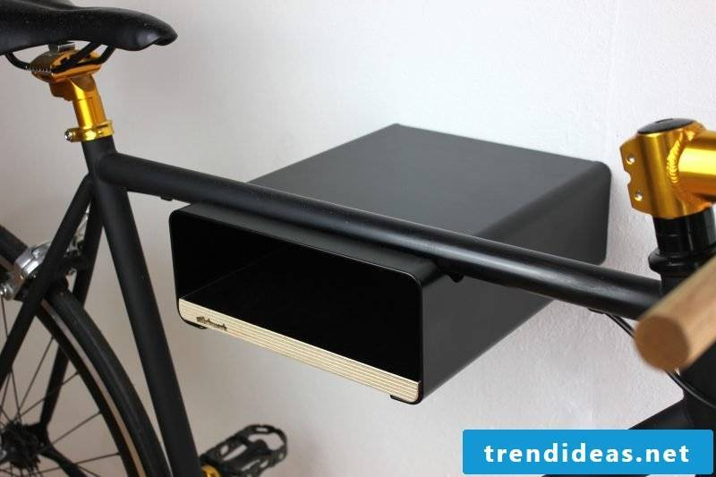 Bicycle mount for wall black