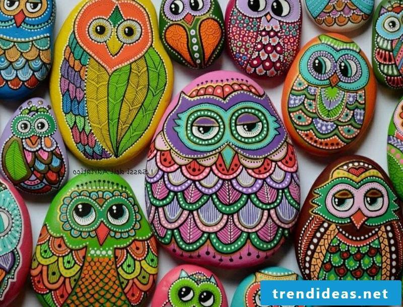 painted stones perfectly painted owls