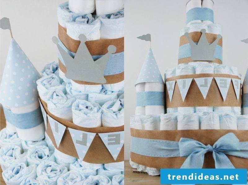Instructions diaper cake for boy
