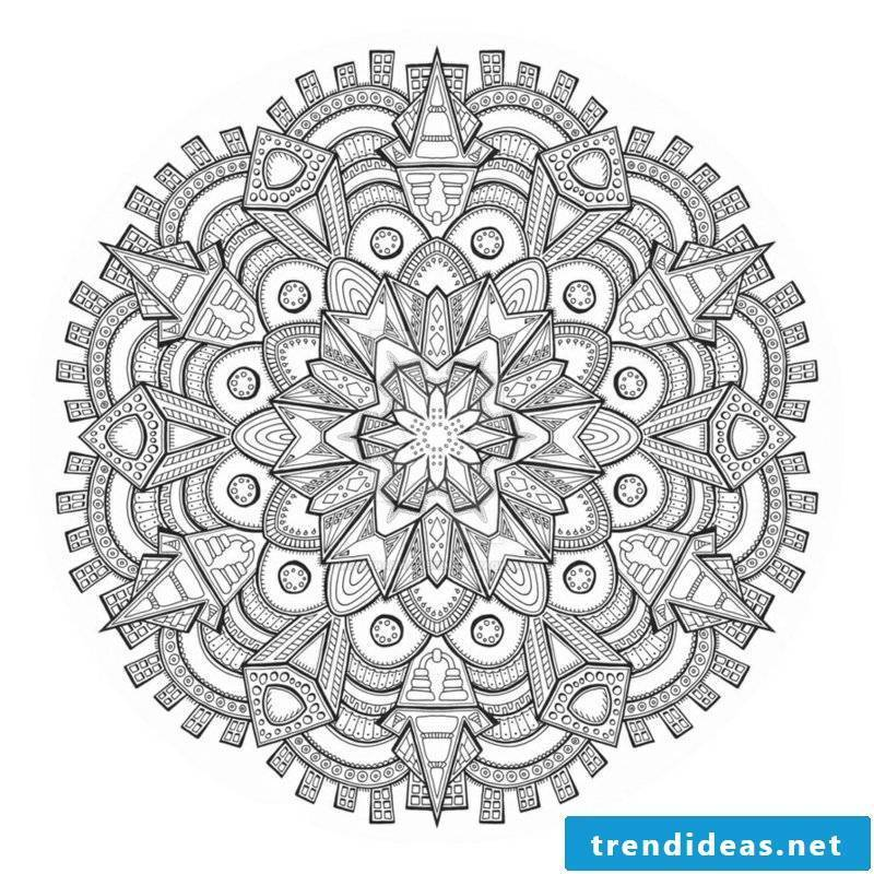 Mandala templates for coloring