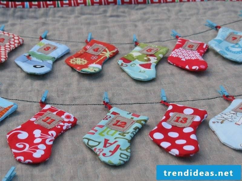 Advent calendar sew boots