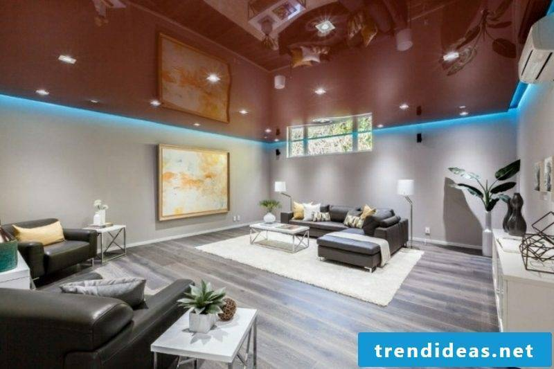 indirect lighting ceiling blue light