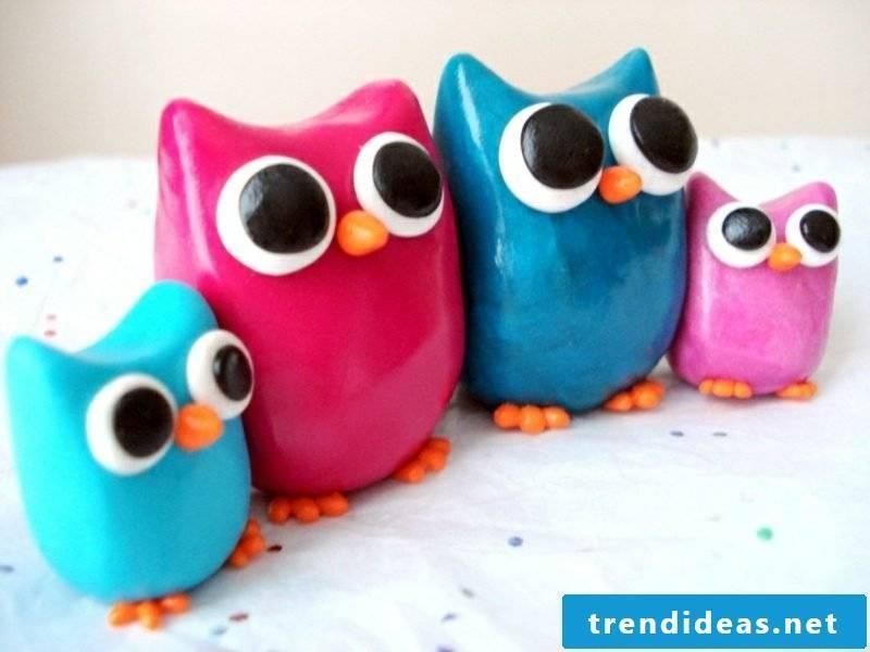 Fimo funny owls