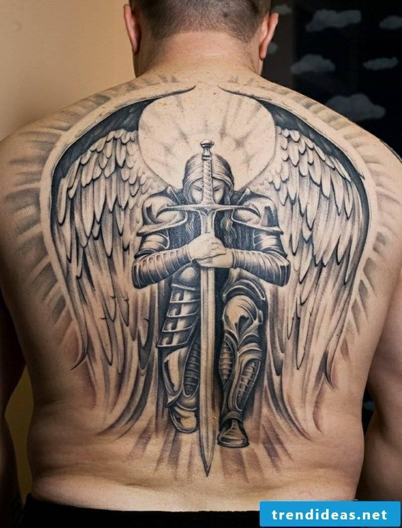 angel tattoo Angel And Sword