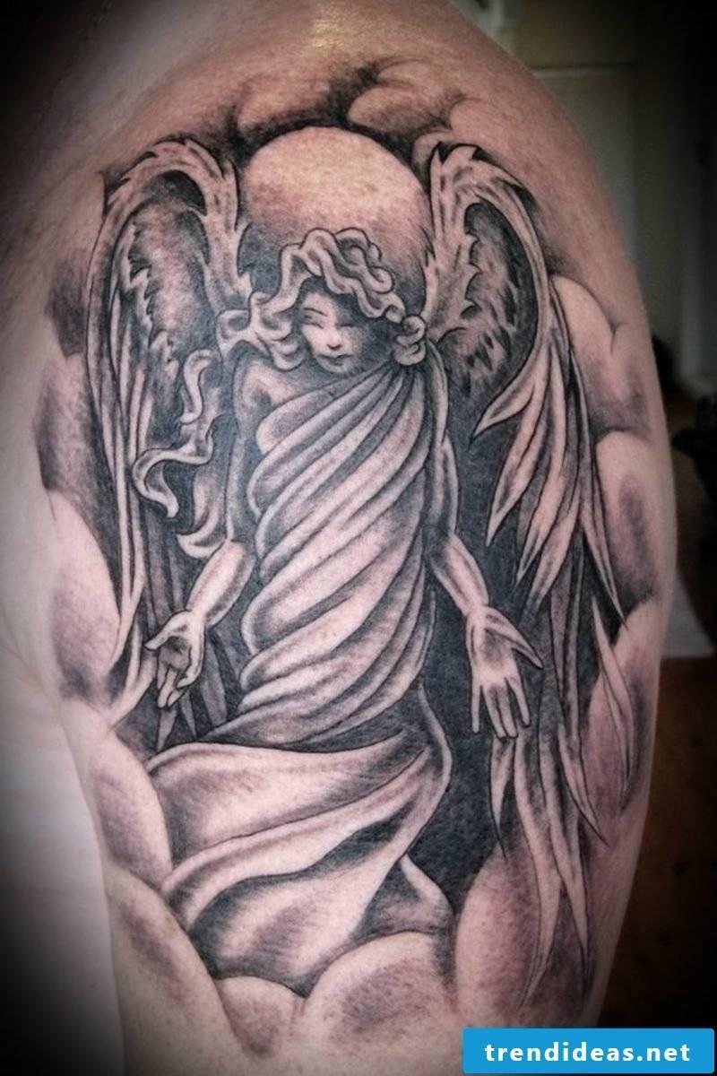 angel tattoo shoulder
